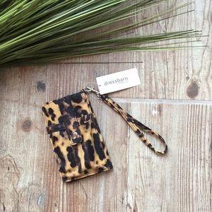 Dressbarn leopard wallet ID case